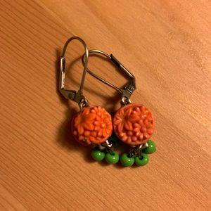 Anthropologie sweet vintage-inspired earrings